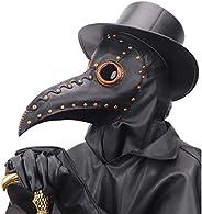 NECHARI Steampunk Plague Doctor Bird Beak Mask Plague DR Halloween Costume Masquerade Masks