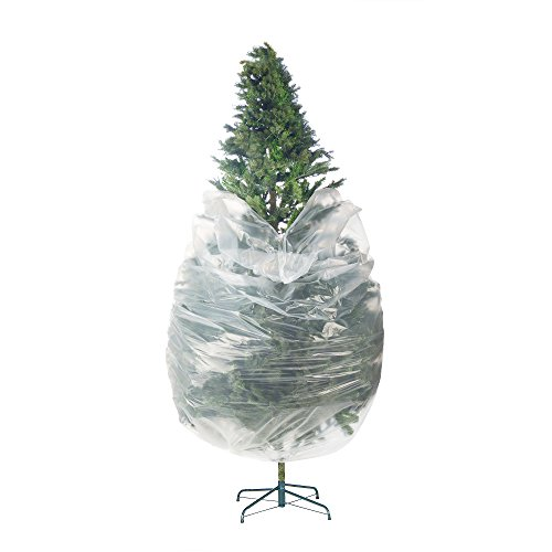 (Elf Stor 83-DT5025 Premium Christmas Poly Large Storage Bag 9' x 4' for 7.5' Trees, Foot, Clear)