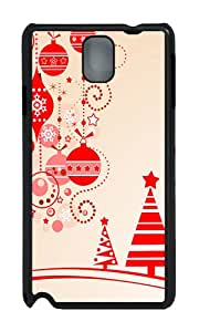 Samsung Note 3 Case,VUTTOO Stylish Christmas Clipart Hard Case For Samsung Galaxy Note 3 / N9000 / Note3 - PC Black