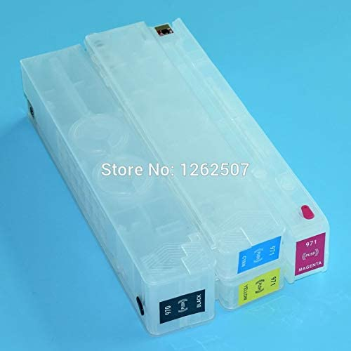 Printer Spare Parts HP970 970 970Xl HP970Xl HP971 Empty Refillable Cartridge for HP Officejet Pro X451 X476 X551 X576 Printers With Chips