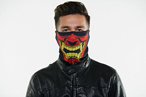 Seamless Outdoor Face/ Ski Mask Bandana. Breathable, Dust Proof - Great for Skiing, Snowboarding, Motorcycle, Bicycle, Running, Camping, Hiking (REG, Warchild)