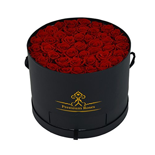 Valentine's Day Collections|Best Valentines Gift for Her| Luxury Red Roses in a Box| Gifts for Women for Whom you loved Pretty Red Roses as Gifts For Her Nice Gifts For Girls Unique Gift for (Same Day Ftd Florist)