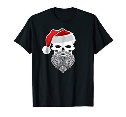 (Skull Skeleton Santa Beard Men's Pirate Jolly Roger T-shirt)