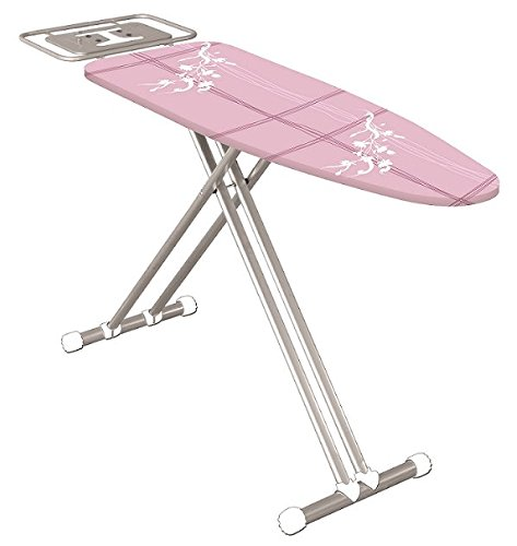 Econat Viva Adjustable Foot Caps, 4-Leg, Adjustable Height, Large Ironing Board (Pink) by Econat