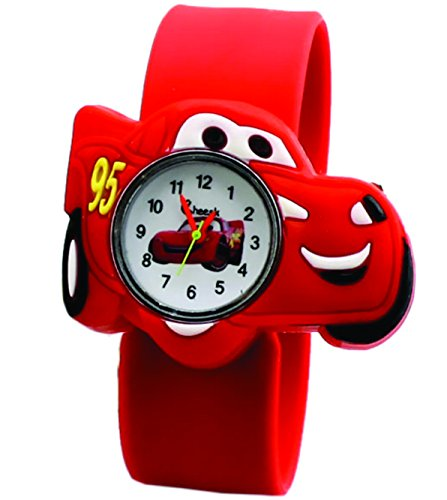 Cars Wristbands (AccessCube Cars Fashion Watches Children Kids Watch Boys Watch Casual Quartz Slap Wristband (Red))