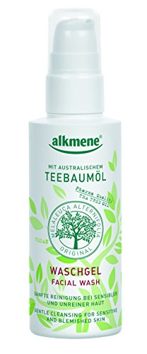 Tea Tree Oil Facial Wash Imported from Germany Vegan Paraben Free Detoxifying Face Cleanser For Oily Acne Prone & Sensitive Skin With Pharmaceutical Grade Tea Tree Oil 150 ml By Alkmene - Oil 150 Ml Series