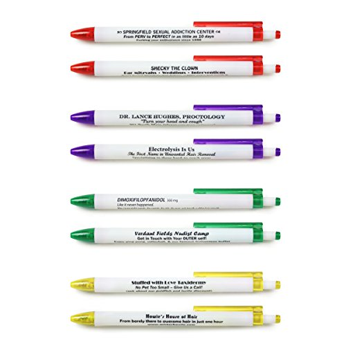 Fred & Friends BORROW MY PEN Subversive Pen Set, Set of 8