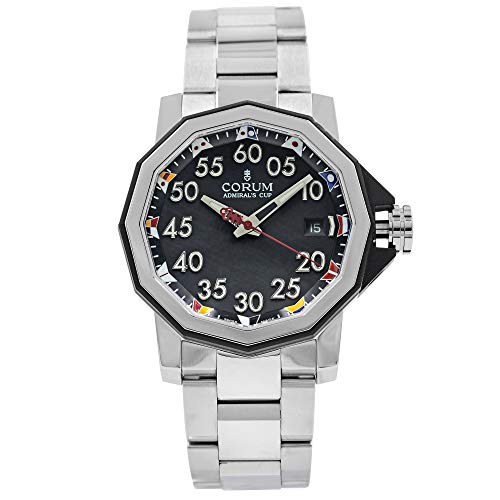 Corum Admirals Cup - Corum Admiral's Cup Automatic Black Dial Men's Watch A082/03375