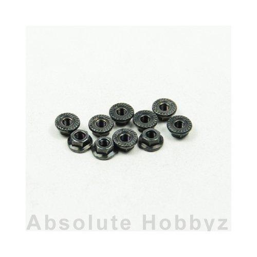 Kyosho Nut(M3X3.7mm) Flanged (10Pcs) 1-N3037F