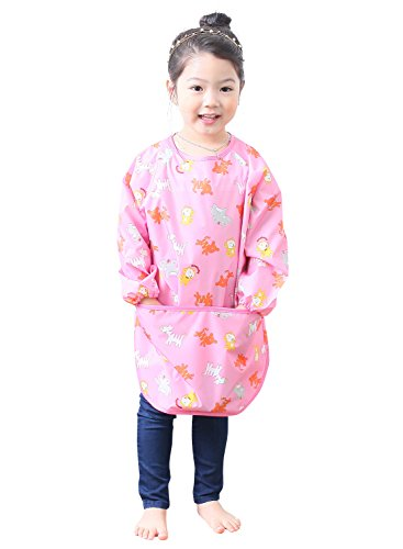 Plie Little Girls' Waterproof Art Smock With Sleeves Large ...