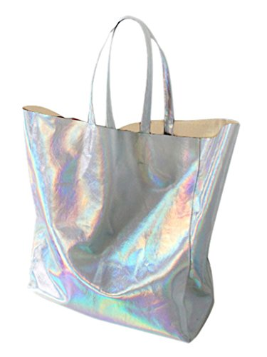 Choies Women's Hologram PU Shopper ()