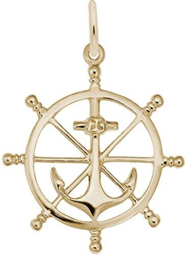 Rembrandt Ship Wheel Charm - Metal - 14K Yellow Gold