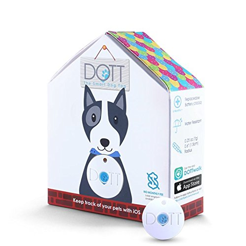 DOTT The Smart Dog Tag, Bluetooth Location Tracking, Lost and Found, App-Enabled Pet Collar Tag (Not a GPS Tracker)