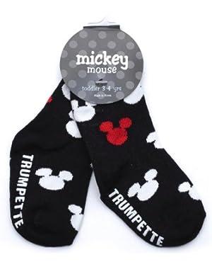Trumpette Mickey Silhouette Toddler Socks - Black