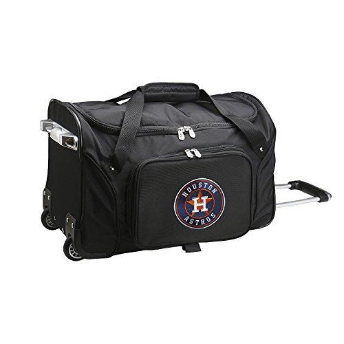 (MLB Houston Astros Wheeled Duffle Bag)