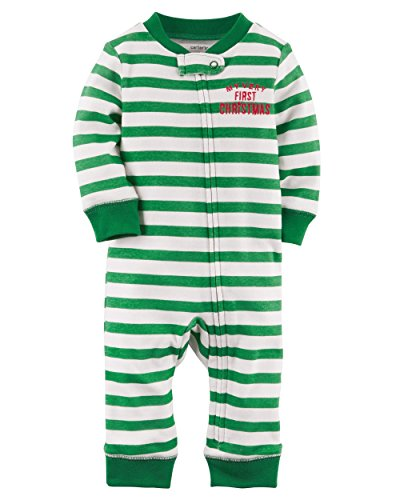 Carter's Baby Boys' Footless Cotton Sleep & Play (First Christmas, 3 Months)]()