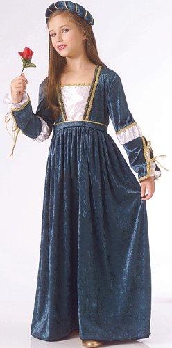 anne Velvet Costume Set (Child Juliet Renaissance Costume)