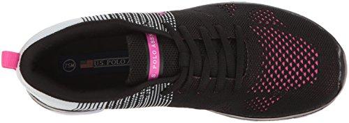 U.S. Polo Assn.(Womens) Womens Carey-k Fashion Sneaker Black/White/Fuchsia EIZMh