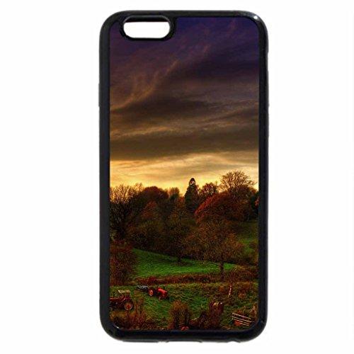 iPhone 6S / iPhone 6 Case (Black) farm at sundown
