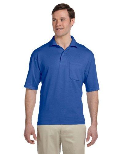 Jerzees 50/50 Jersey Pocket Polo w/Spotshield, TRUE ROYAL, X-Large