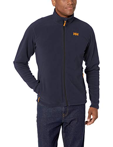 Helly Hansen Men's Daybreaker Lightweight Full Zip Fleece Jacket, 994 Graphite Blue, X-Large