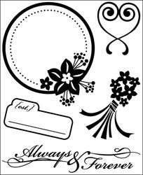 Basic Grey Cappella Clear Self-Cling Bitsy Stamp-Forever; 3 - Clear Bitsy Stamp
