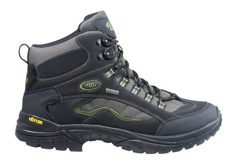 Bruetting Summit High - botas de senderismo de piel hombre negro / verde