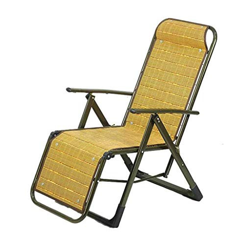 Zichen Folding Chairs in Bamboo Reclining Chairs Deck Chairs Summer cot Sunlounger Zero Gravity Garden Armchair