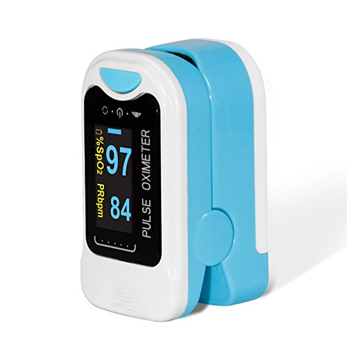 CONTEC OLED CMS50NA Pulse Oximeter,SpO2 and PR Value Waveform Blood Oxygen, Carrying Case, Neck/Wrist Cord
