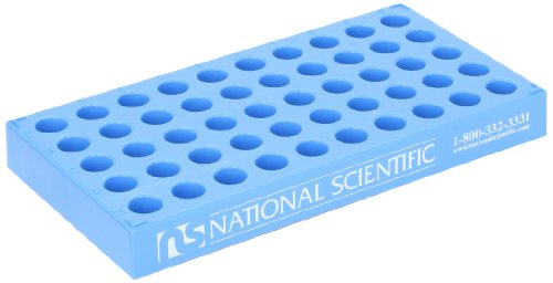 National Scientific C4012-25 Polypropylene Vial Rack for 12mm Diameter Vial (Case of 5) by National Scientific