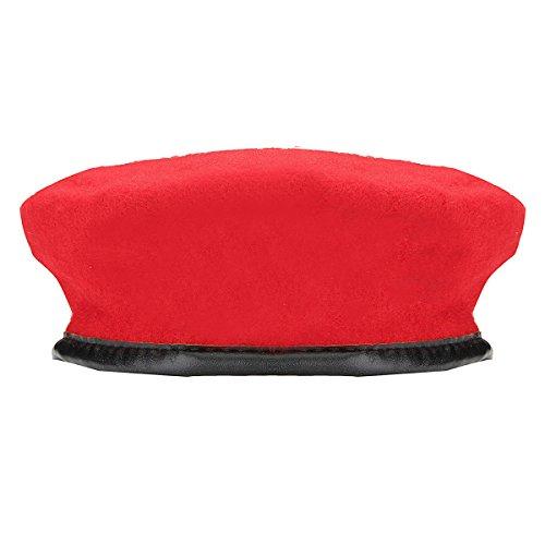 Unisex Military Army Soldier Hat Wool Beret Uniform Cap Beret Beanie Cap (Adult Hat, -
