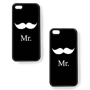 Cathys Concepts MR-B3405 Mr & Mrs Cases for iPhone - 1 Pack - Non-Retail Packaging - Black