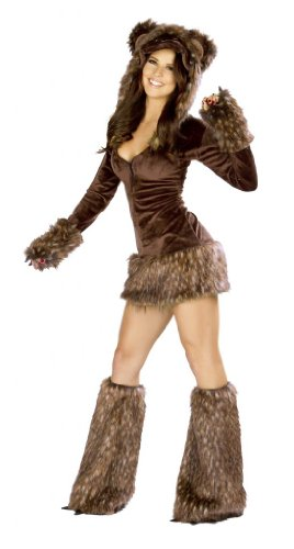 Sexy Teddy Bear Costumes - J Valentine Women's Teddy Bear Costume S Brown