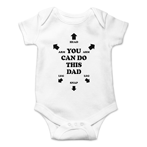 - AW Fashions You Can Do This Dad Cute Novelty Funny Infant One-Piece Baby Bodysuit (6 Months, White)