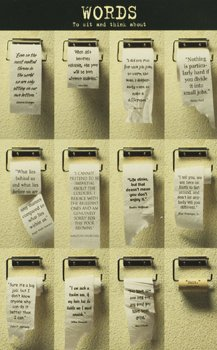 Words On Toilet Paper, Motivational Art Poster Print