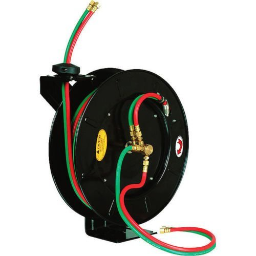 100 FT x 1/4'' Retractable Welding Hose Reel Oxygen Acety...