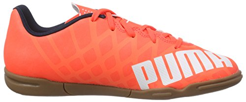 Puma evoSPEED 5.4 IT Jr - Zapatillas deportivas para interior de material sintético Niños^Niñas naranja - Orange (lava blast-white-total eclipse 01)