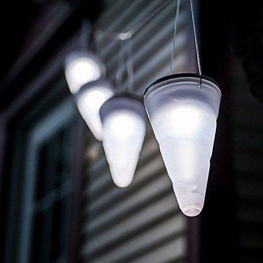 FVLU Solar weißen Garten im Freien hängenden Baum Kornett Kegel LED-Leuchten , cool white
