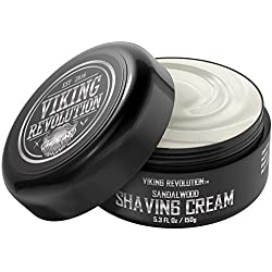 Luxury Shaving Cream Bowl Sandalwood Scent - Soft, Smooth & Silky Shaving Soap - Rich Lather for the Smoothest Shave - 5.3oz