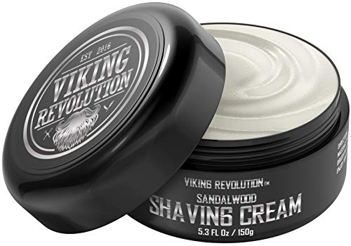 (Luxury Shaving Cream Bowl Sandalwood Scent - Soft, Smooth & Silky Shaving Soap - Rich Lather for the Smoothest Shave - 5.3oz)