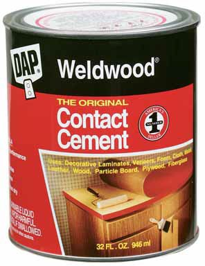 Dap 00272 6 Pack Quart Weldwood Original Contact Cement, Tan