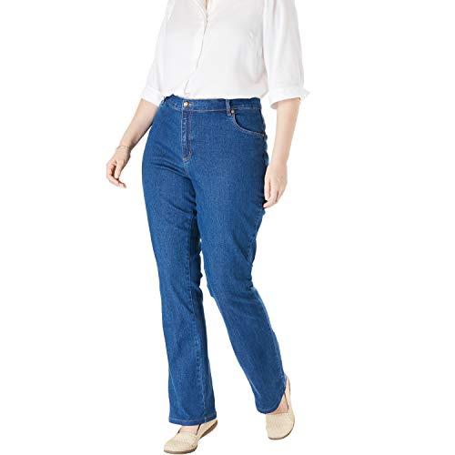 Woman Within Women's Plus Size Bootcut Stretch Jean - Medium Stonewash, 22 W