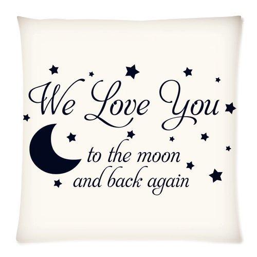 Moda hogar decorativo I Love You To The Moon And Back con ...