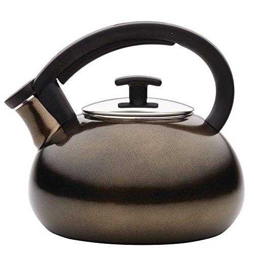 Anolon(r) Allume Teakettles 2-Quart Enamel on Steel Teakettle, Bronze