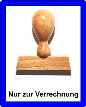 LE-ONs® Holzstempel Professional-Serie L6 Nur zur Verrechnung