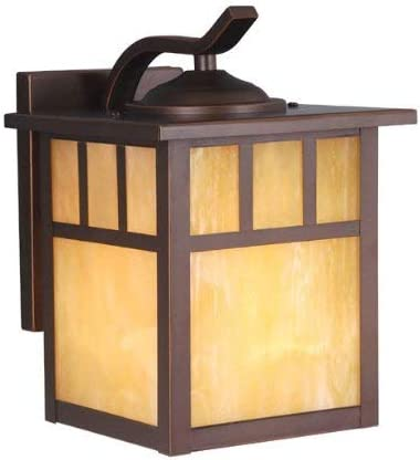 Vaxcel OW37273BBZ Mission 7-Inch Outdoor Wall Light, Burnished Bronze