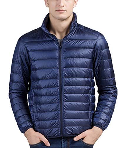 Appaman Coat Sale (femaroly Men's Thin Down Jacket Autumn Winter Light Weight Packable Puffer Warm Insulation Coat Navy)