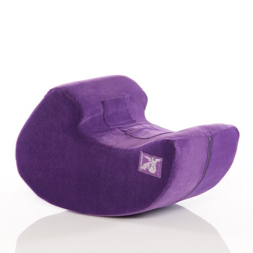 Liberator Pulse Sex Positioning Pillow and Toy Mount - Purple Microfiber
