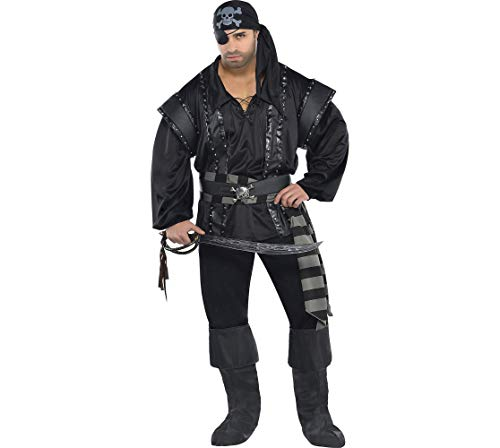 Amscan Adult Dark Sea Scoundrel Pirate Costume Plus Size