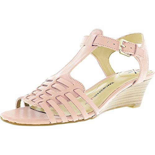 Isaac Mizrahi Live! Women's Kylee Wedge Sandals-Light Pink-9W from Isaac Mizrahi Live!